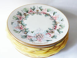 Reduced Price All 13 Lenox Colonial Christmas Wreath Plates 1981-93 Us Colonies