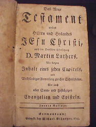 1795 Antique Early American German New Testament Holy Bible Colonial Americana