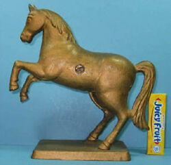 1910/34 Prancing Horse On Base Cast Iron Bank Guaranteed Authentic Sale Ci 548