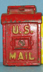 1908/34 Sm Old U S Mailbox Cast Iron Toy Bank Guaranteed Authentic Sale Ci 704