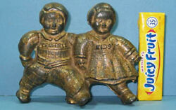 Big Price Cut 1910/20and039s Campbell Kids Guaranteed Orig Old Cast Iron Bank Ci 835