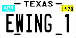 J.r. Miss Ellie And Jock Ewing Dallas Tv Show 1978 Texas License Plate Collection