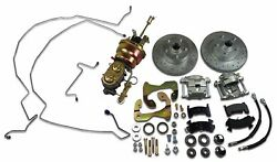 1959 - 1964 Chevrolet Front Power Disc Brake Conversion Kit Drilled Rotors