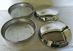 1950 Mercury Polished Stainless Hubcap And03950 Set Of 4