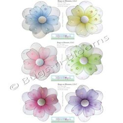 FLOWER STICKERS Wall Baby Nursery Girl Room Decor Removable Vinyl Daisy Decals