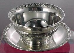 And Co. Sterling Silver Mayonnaise Bowl Or Candy Dish With Underplate