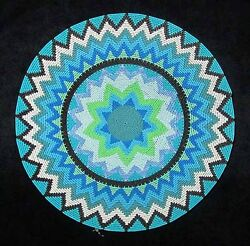 Looks Like Lace Blue Star African Zulu Telephone Wire Basket/plate Large