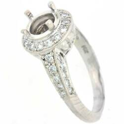 0.72 Cts Antique Style Diamond Semi-mount Engagement Ring 14k Si1/g- 6.5 Mm