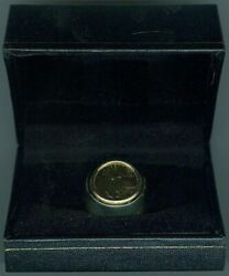 U.s. Mens 13.7 Gram 14k Yellow Gold United States Mint American Eagle Coin Ring