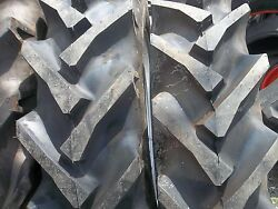 2 11.2x28 Ford John Deere Tractor Tires W/tubes And 2 400x19 3 Rib W/tubes