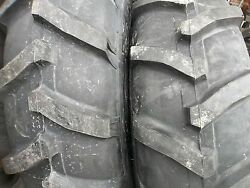 Two 13.6x2813.6-28 Ford-new Holland 3930 8 Ply R 1 Tractor Tires With Tubes