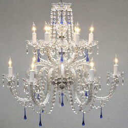 Authentic All Crystal Chandelier Chandeliers With Blue Crystals
