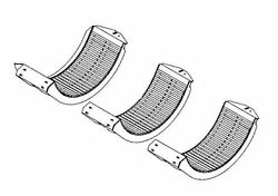 V18059 Concave Sts Small Wire Ext Wear Fits John Deere 9650sts 9660sts-9870sts