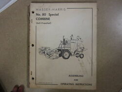 Massey Harris 80 Combine Owners And Mantenance Manual