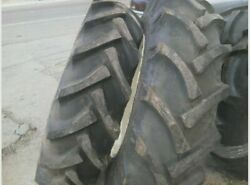 Two 12.4x36 12.4-36 M Farmall 8 Ply Tractor Tires With Tubes