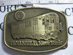 Vintage Mko Hornell New York Belt Buckle By Cd Hit Made In Usa Excellent Conditi