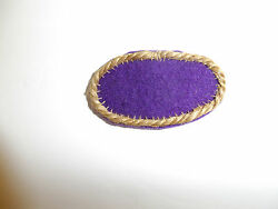 B0934 Wwii Oss Oval For Jump Wings Purple Wool Backing W/heavy Cord Burlap C19a2