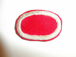 B0937 Wwii Oss Oval For Jump Wings Red Wool Silver Bullion Wire Boarder C19a5