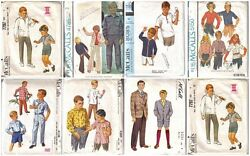 Vintage Mccaland039ls Sewing Pattern Boys Clothing Outfits Mccalls Pattern You Pick