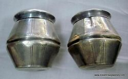 Vintage Antique Collectible Old Silver Box Container Bottle Rajasthan India