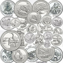 1999 - 2015 Set Of State Quarters Territories Parks P D 1999 - 2015