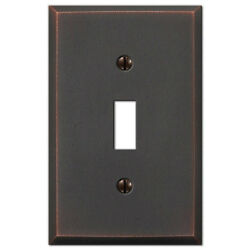 Cambridge Distressed Antique Bronze Switchplate Wall Plate Covers Light Switch