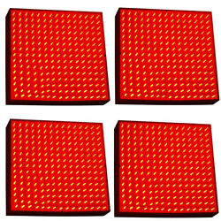 4-pack Hqrp 225 Red Led Grow Light Panel Indoor Grow Green House Hydroponic