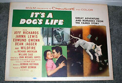 BULL TERRIER original 1955 movie poster IT'S A DOG'S LIFEJEFF RICHARDS