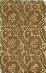 9x13 Surya Wool Hand Tufted Brown Floral 7019 Area Rug - Approx 9' X 13'
