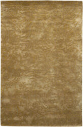 4x6 Surya Hand Knotted Wool Tan Swirls 7412 Area Rug - Approx 4and039 X 6and039