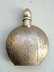 Vintage Antique Collectible Old Silver Perfume Bottle Sterling Silver Jewelry