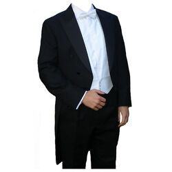 Poly-wool White Tie Tailcoat 44 Long