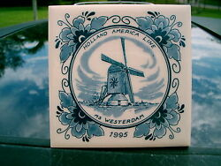 Ms Westerdam Tile Holland American Line 4x4 1995 Windmill Creme Color