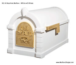 Gaines Keystone Mailbox - Eagle Door - Cast Aluminum Mail Box With Optional Post