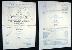 Circa 1959 Signed Miracle Worker Anne Bancroft Patty Duke Patricia Neal Congdon
