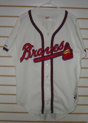 Atlanta Braves Rawlings Home Jersey Blank Back Early 1990and039s Free Shipping