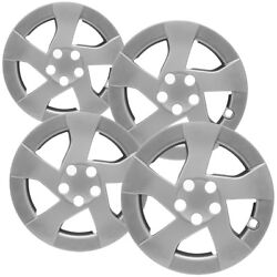 4 Pc Hubcaps Fits Toyota Prius 15 Silver Snap On Replacment Wheel Rim Skin