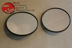 Chevy Truck 5 Black Mirror Heads Ridbbed Pair Free Shipping