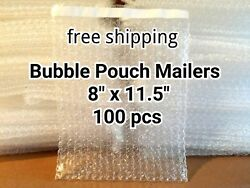 Lots Of 100 8 X 11.5 Bubble Out Bags Pouches Self Seal Mailers Bags Wrap Clear