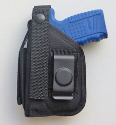 Gun Holster Hip Belt With Mag Pouch For Walther Pps With Underbarrel Laser