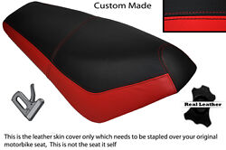 Black And Red Custom Fits Suzuki Ap 50 Scooter Leather Dual Seat Cover