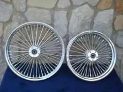 21x3.5 And 16x3.5 Dna Mammoth 52 Spoke Fat Daddy Wheels 4 Harley Softail And Touring