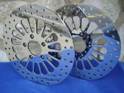 Dna Spoke Front And Rear Brake Rotors W/free Rotor Bolts For Harley Dyna Sportster