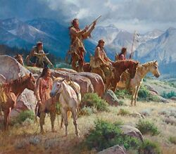 Prayers Of The Pipe Carrier Martin Grelle Grande Edition Giclee Canvas