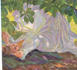 Near Mint.. Cucuel...sensuous Lady Lounging In Shade,liegende Old Postcard