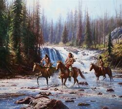 Crows In The Yellowstone Martin Grelle Limited Edition Fine Art Giclee Canvas