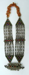 Vintage Antique Collectible Tribal Old Silver Necklace Rajasthan India