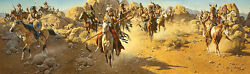 On The Old North Trail Frank Mccarthy Western Indian Art Giclee Canvas