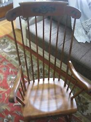 Vintage S.bent And Bros Colonial Rocking Adult Chair Antique Excellent Condition