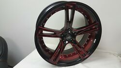 Marquee 3247 Black Red 20 Inch wheel Rims & tires fit 5X120 Great Deals